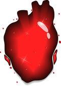 Heart splash — Stock Vector