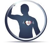 Human heart beats — Stock Vector