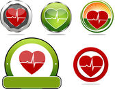 Heart beats symbols — Stock Vector