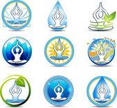 Meditation, yoga — Stock Vector