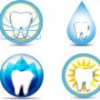 Tooth symbols — Stock Vector