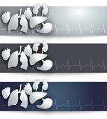 Human organs banner — Stock Vector