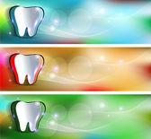 Tooth banners — Stok Vektör
