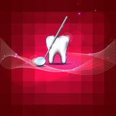 Dental background — Stock Vector