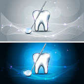 Beautiful tooth banners — Stock Vector