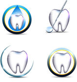 Teeth symbols — Stock Vector