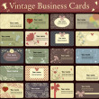 Vintage business cards collection. — Stockvectorbeeld