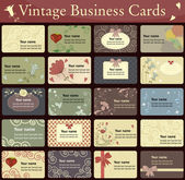 Vintage business cards collection. — Stock Vector