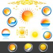 Beautiful sun collection — Stock Vector