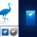 Crane bird — Stock Vector