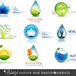 Постер, плакат: Nature and health care symbols