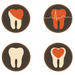 Teeth health care icons — Stock Vector #38789273
