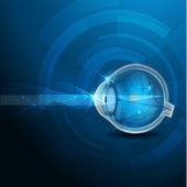 человеческого глаза зрения — Cтоковый вектор