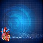 Cardiology technology background — Stock Vector