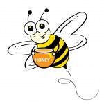 peine de abeja y miel — Vector de stock