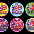 Stock Vector: London round label