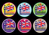 London round label — Stock Vector