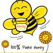 Pure Honey and Bee — Stock Vector #32101645