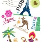 conjunto de iconos de viaje — Vector de stock  #9475123