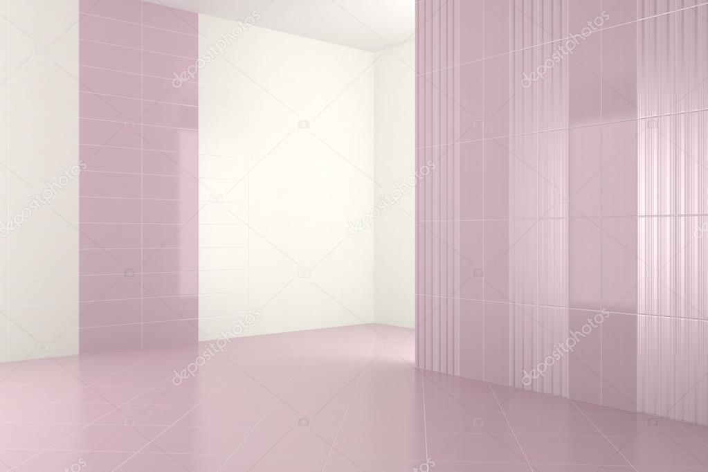 Vuoto moderno bagno con piastrelle viola — foto stock © anhoog ...