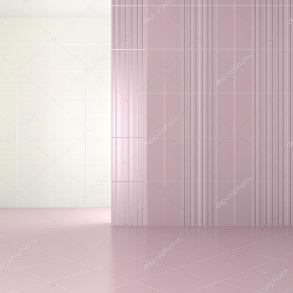 Vuoto moderno bagno con piastrelle viola foto stock - Piastrelle bagno viola ...