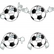 Stock Vector: Bored cartoon football set