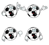 Very angry cartoon football set — Stock Vector