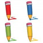 Colored pencils set — Stock Vector