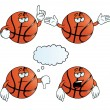 Stock Vector: Bored basketball set