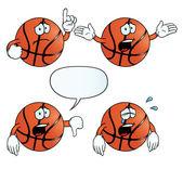 Set di basket piange — Vettoriale Stock