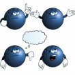 Stock Vector: Bored bowling ball set