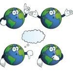Thinking Earth globe set — Stock Vector #22538607