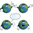 Stock Vector: Bored Earth globe set