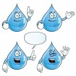Smiling water drop set — Stock Vector