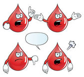 Angry blood drop set — Vector de stock