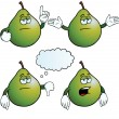 Bored pear set — Stock Vector