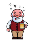Old man being drunk — Stock Vector