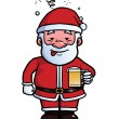 Santa Claus being drunk — Stock Vector