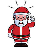 Santa Claus being angry — Stock Vector