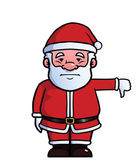 Santa Claus giving thumbs down — Stock Vector