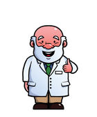 Scientist giving thumbs up — Stock Vector