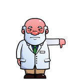 Scientist giving thumbs down — Stock Vector