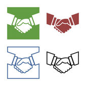 Business handshake set — Stock Vector