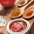 Sauce ingredient on wood table - Foto Stock