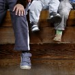 Boys  feet - Stock Photo
