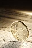 50 cent on chart — Zdjęcie stockowe