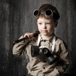 Art portrait of a boy in the industrial style — Stock Photo