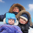 Happy boys on sled — Stock Photo #35908823