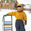 Happy boy with sled — Stock Photo #36700603