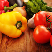 Vegetables on table — Stock Photo